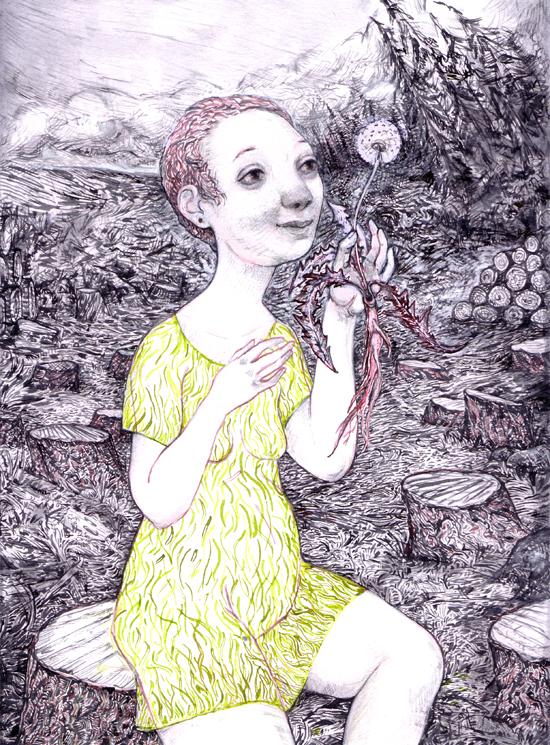 inks (&mixed med) garden3