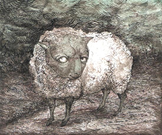 inks sheep at night