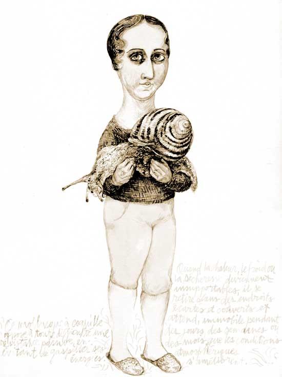 snail & doll